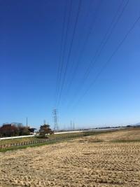 田舎の青空は最高です!!