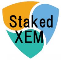 1ヶ月間のstakedXEM流動性マイニングの推移(2020/10/10〜11/10)