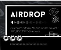 Citadel Mobileの発売を記念して20万円のIOSTエアドロップを実施