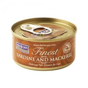 【FISH4CATS】フィッシュ4キャット缶詰「イワシ&サバ」SARDINE AND MACKEREL
