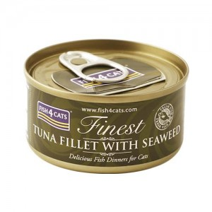 【FISH4CATS】フィッシュ4キャット缶詰「ツナ&海藻」TUNA FILLET WITH SEA WEED