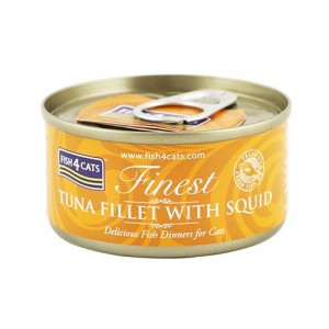 【FISH4CATS】フィッシュ4キャット缶詰「ツナ&イカ」TUNA FILLET WITH SQID