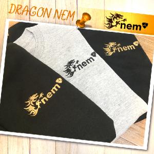 【残り Mサイズ_在庫2点 】DORAGON_NEMオリジナルTシャツ BLACK ロゴ金