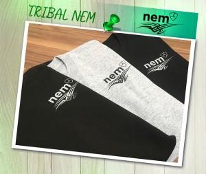 【残り Lサイズ_在庫1点のみ】TRIBAL_NEMオリジナルTシャツ グレー ロゴ黒