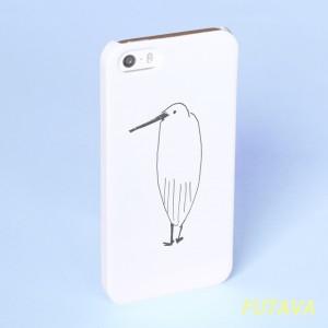 *サギなヤツ* スマホケース 白 機種選べます サギ さぎ 鷺 トリ 鳥 Xperia iPhone Android 8 XS