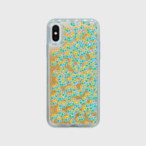【iPhone対応】ハーベスト柄(ゴールド) グリッタースマホケース