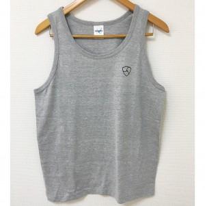 NEMオリジナルタンクトップ ヘザーグレー ロゴ黒(綿100%)