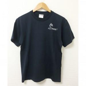 【M/Lサイズ 在庫限定】DOLPHIN_NEMオリジナルTシャツ NAVY ロゴ_銀