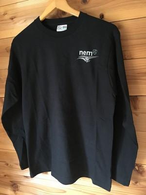 【在庫M1点、L1点】TRIBAL_NEMオリジナルロングTシャツ 黒 ロゴシルバー