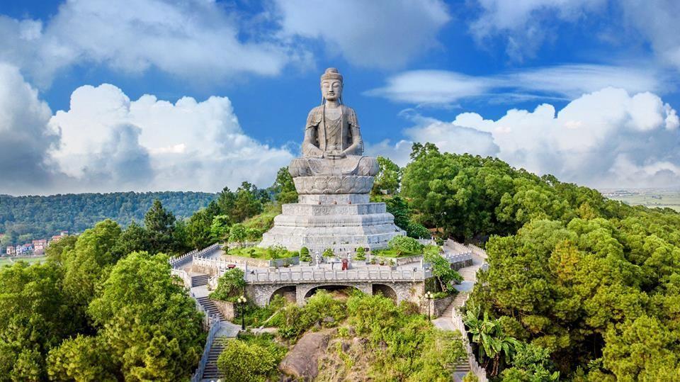 Chùa Phật Tích có tượng Phật bằng đá to nhất Việt Nam