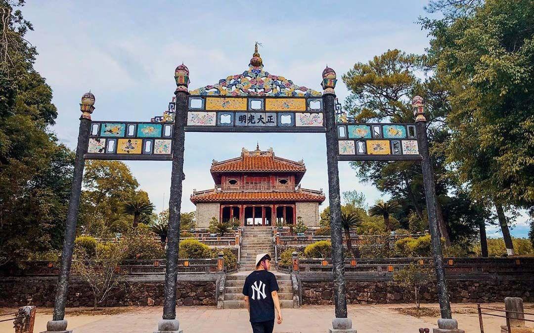 Kiến trúc cổ ấn tượng của lăng vua Minh Mạng ở Huế