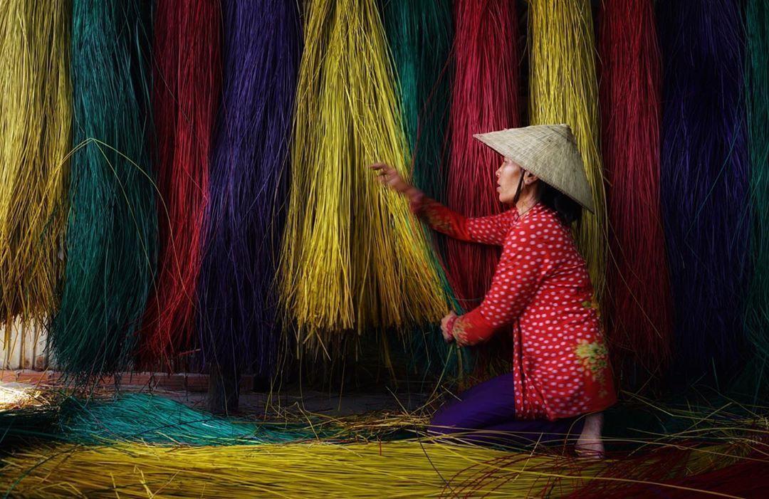 Mộc mạc làng dệt chiếu Định Yên hơn 100 năm tuổi ở Đồng Tháp
