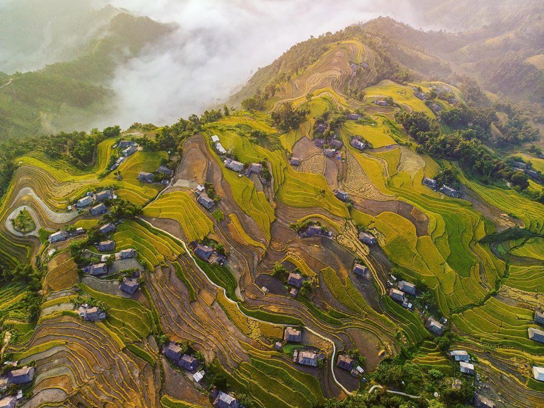 Thăm những cánh đồng ruộng  bậc thang đẹp như tranh vẽ  ở Hoàng Su Phì