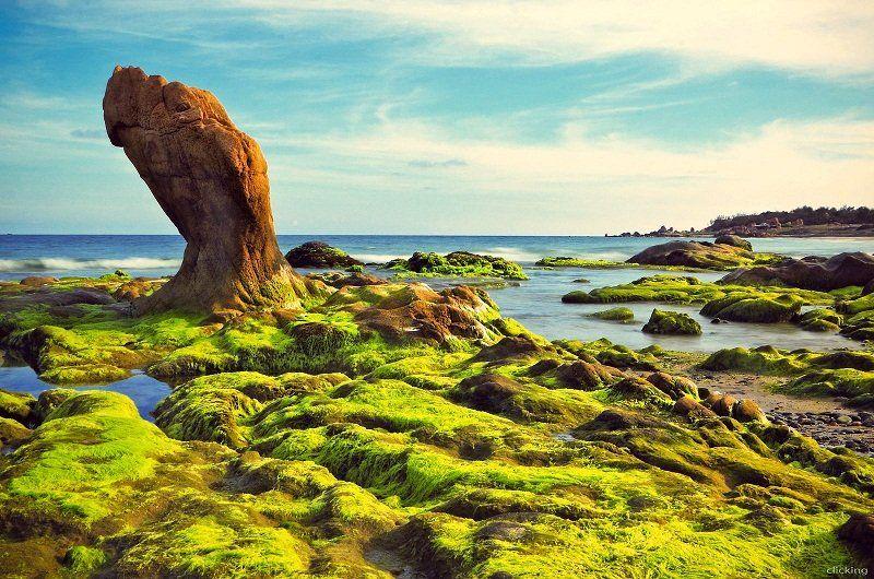 Biển Cổ Thạch đẹp như tranh vẽ khiến du khách mê mẩn