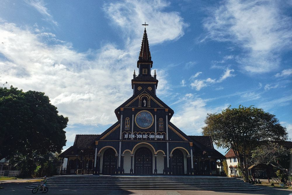 The 100-year-old wooden church with unique architecture in Kon Tum