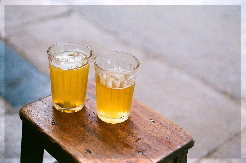 Sidewalk iced tea - a popular and long-standing culture of Hanoians
