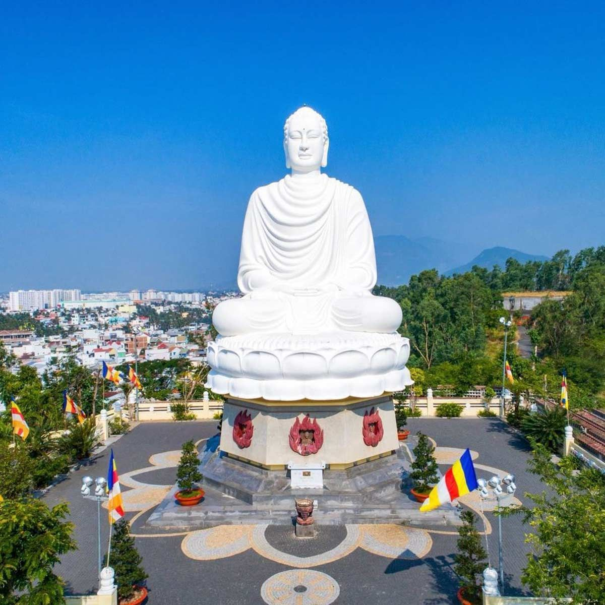 Long Son Pagoda with the largest outdoor Buddha statue in Vietnam
