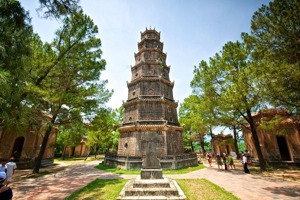 The most sacred ancient pagoda in the ancient capital of Hue