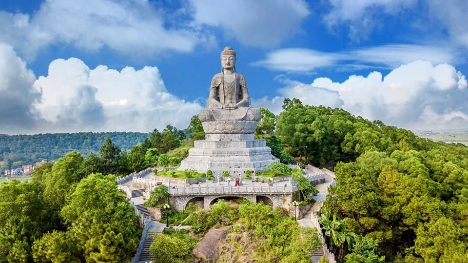 Phat Tich Pagoda and the largest stone Buddha statue in Vietnam