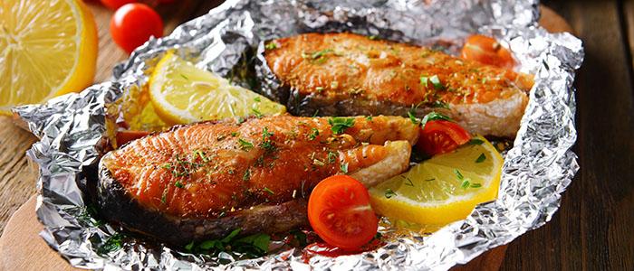 鮭のホイル焼き - 彼が喜ぶ手作り料理