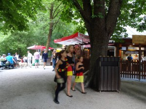 ドイツ国旗 街角