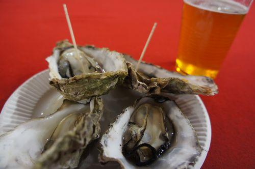 画像:ふるさと祭り 能登カキとビール