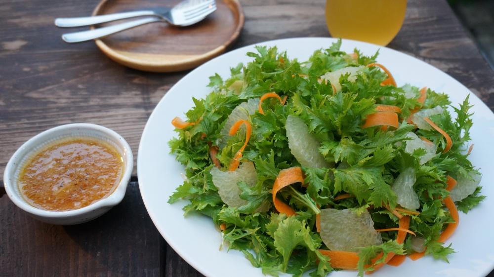 わさび菜 グレープフルーツ おつまみサラダ おつまみレシピ 簡単 おすすめ