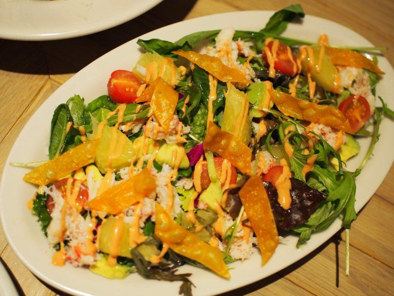 ズワイ蟹とザボンとアボカドのサラダ