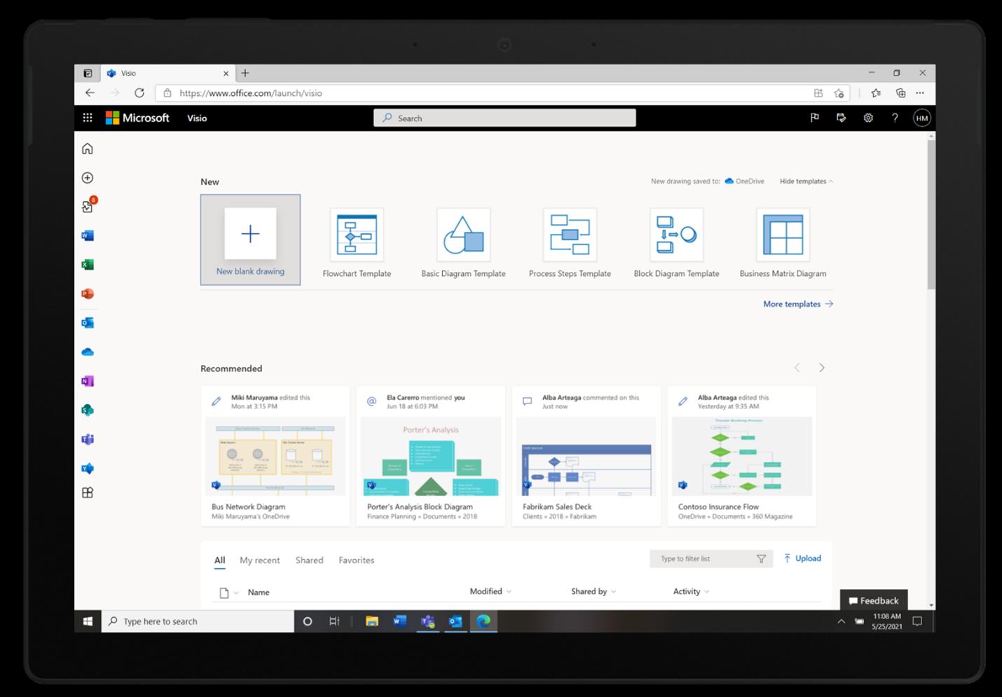 Microsoft 365に「Visio」が追加。Web版として主要機能が利用可能  - PC Watch