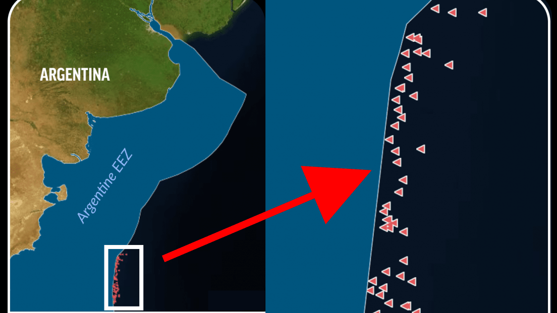 無数の中国漁船が「位置情報を隠して」他国の海域で違法操業をしていることが判明 - GIGAZINE