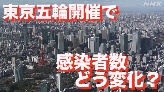 五輪で人流10%増なら都内の感染者数3倍か 東大グループ試算 | 新型コロナウイルス | NHKニュース