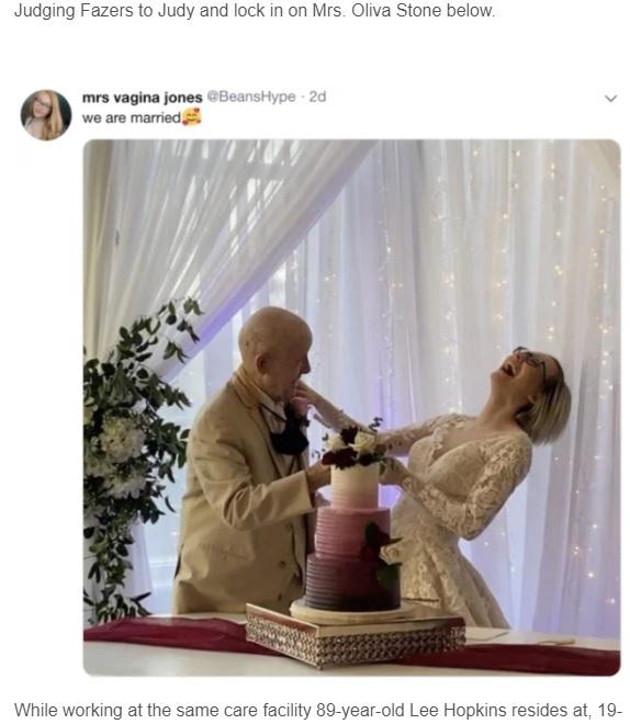 海外発!Breaking News】89歳の認知症男性と結婚した19歳女性 「彼の遺産を独り占めするの」(米) | Techinsight(テックインサイト)|海外セレブ、国内エンタメのオンリーワンをお届けするニュースサイト | ニュートピ! - Twitterで話題のニュースをお届け!