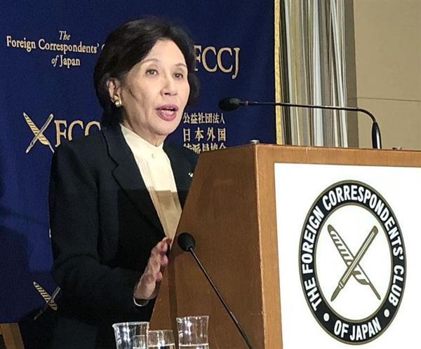 田中真紀子氏、安倍晋三首相訪米を批判「森友問題から逃げたい」「安倍氏は駄目だな」 - 産経ニュース