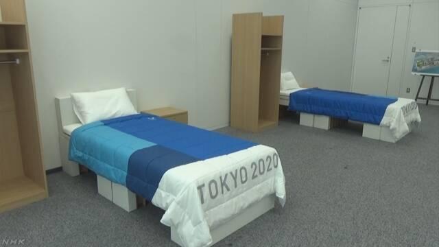 ベッドは再利用できる段ボール 五輪・パラ選手村の備品公開 | NHKニュース