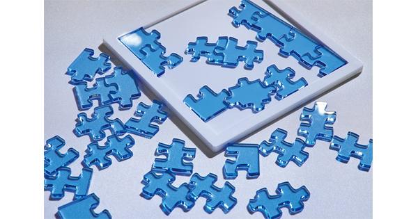 """角に置けるピースが多過ぎる 海外で話題の""""普通の解き方だと解けないジグソーパズル""""が面白そう 日本の美大生が制作 - ねとらぼ"""