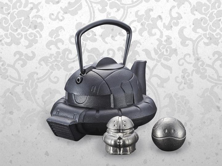 ガンダム:ザクの頭部が南部鉄器の鉄瓶に ハロとアッガイの鉄魂も - MANTANWEB(まんたんウェブ)