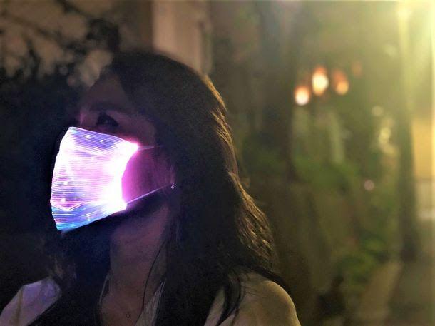 光るマスクで目立てる「LEDマスク ライトアップマスク」がMakuakeで支援求む - Engadget 日本版