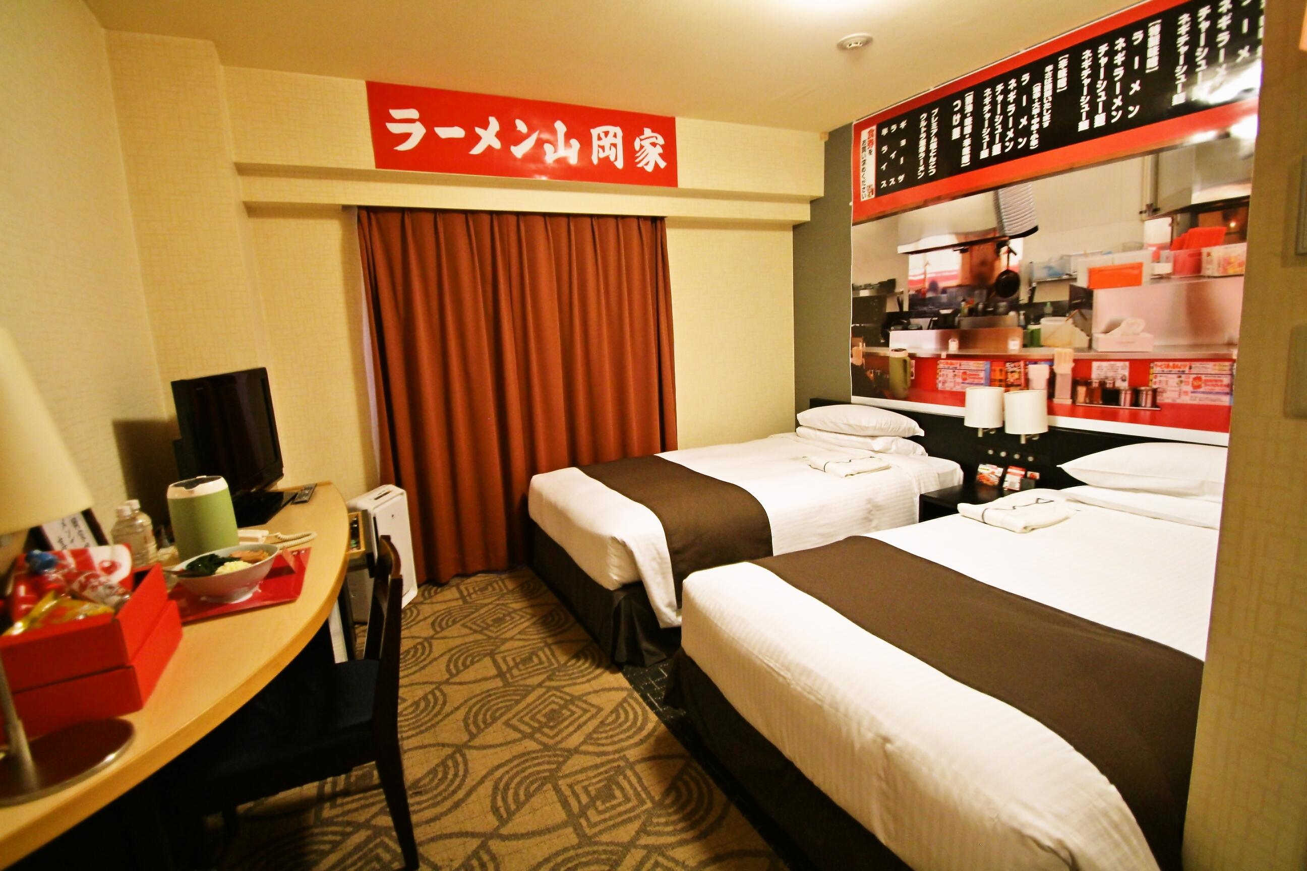 ホテルの一室が「ラーメン山岡家」に!?異色のコンセプトルーム「山岡家部屋」を販売 東急REIホテルのプレスリリース