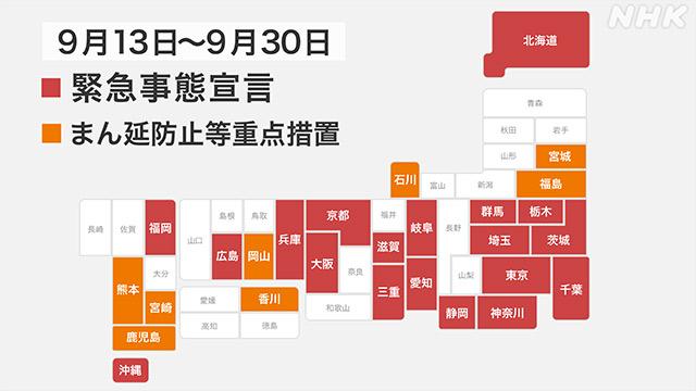 【速報中】緊急事態宣言 まん延防止措置 「30日すべて解除へ」   新型コロナウイルス   NHKニュース