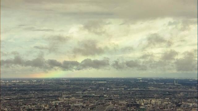 即位礼正殿の儀の直前 雨上がり虹かかる | NHKニュース