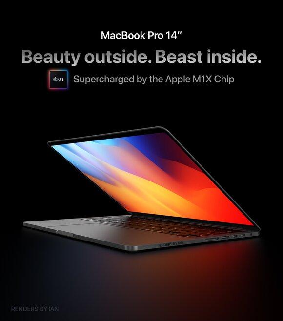 14インチMacBook Proのコンセプト画像が公開〜Touch Barは非搭載 - iPhone Mania