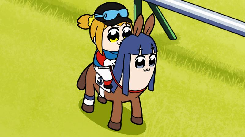 ポプテピピック×JRAで完全新作アニメ「ポプテピ記念」公開、制作スタッフはテレビアニメと同じ - GIGAZINE