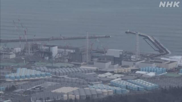 福島第一原発 トリチウムなど含む水薄めて海洋放出決定へ 政府 | 福島第一原発 | NHKニュース