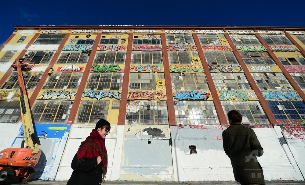 落書きアート消した開発業者に賠償命令7億円超、米NY 写真1枚 国際ニュース:AFPBB News
