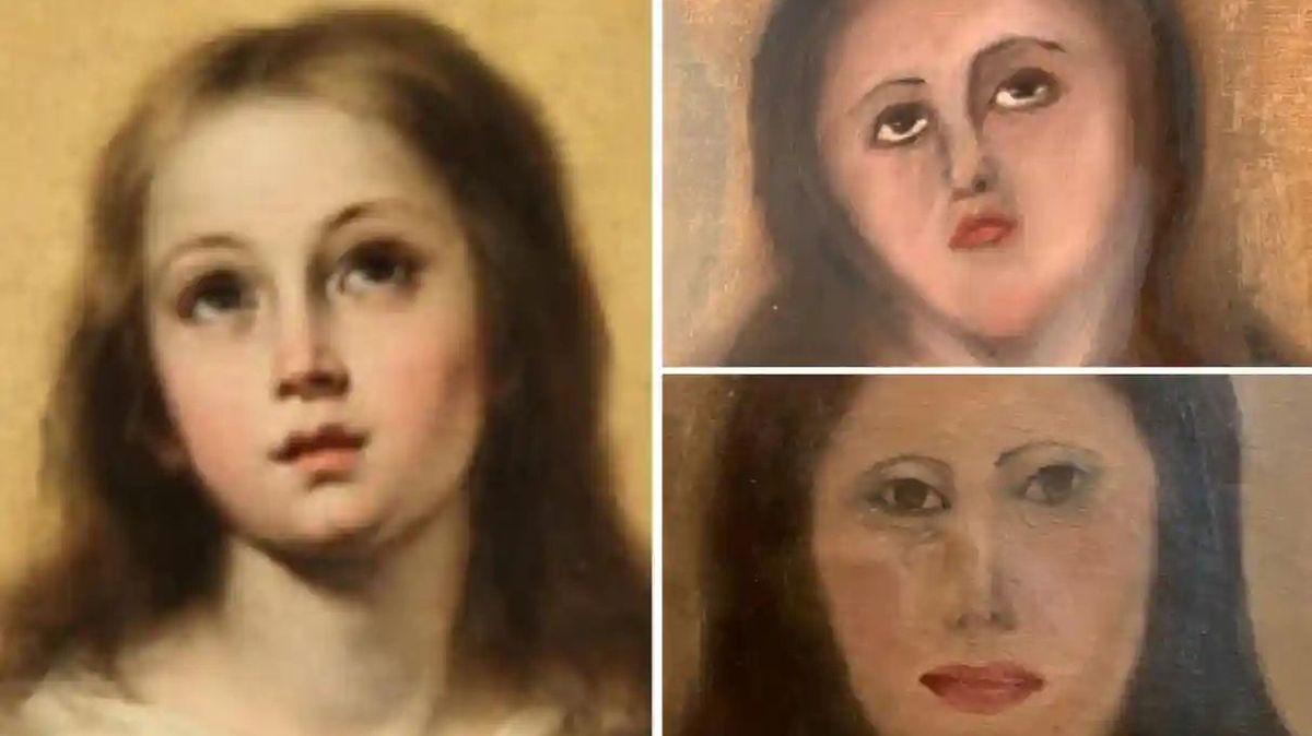 素人が絵画を修復しようとして大失敗する事態がまたもや発生、専門家が素人によるアート修復の規制を訴える - GIGAZINE