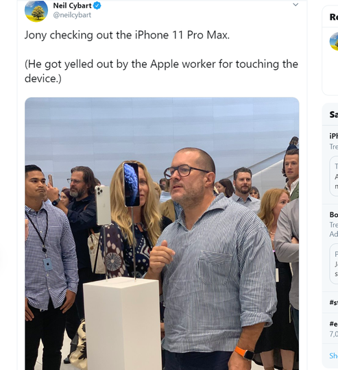 ジョニー・アイヴ、新iPhoneに近寄りすぎて注意される | ギズモード・ジャパン