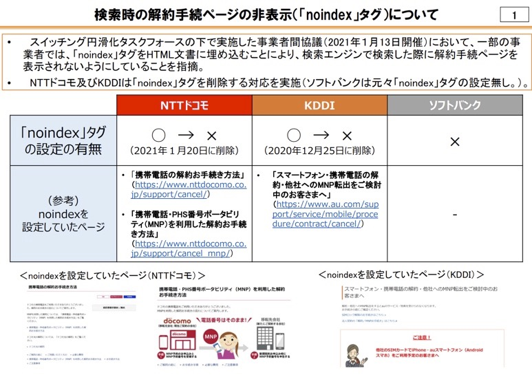 ドコモとKDDI、解約ページに「noindex」タグ挿入 検索で非表示にしていたと判明 - Engadget 日本版