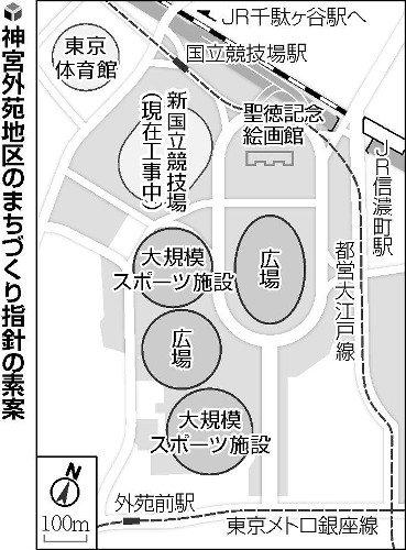神宮球場とラグビー場の間に広場…再開発へ素案 : 社会 : 読売新聞(YOMIURI ONLINE)