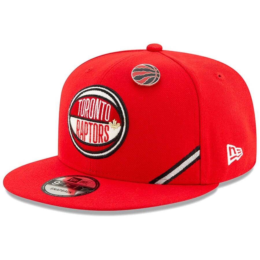 トロント・ラプターズ New Era 2019 NBA Draft 9FIFTY Snapback Adjustable キャップ - Red