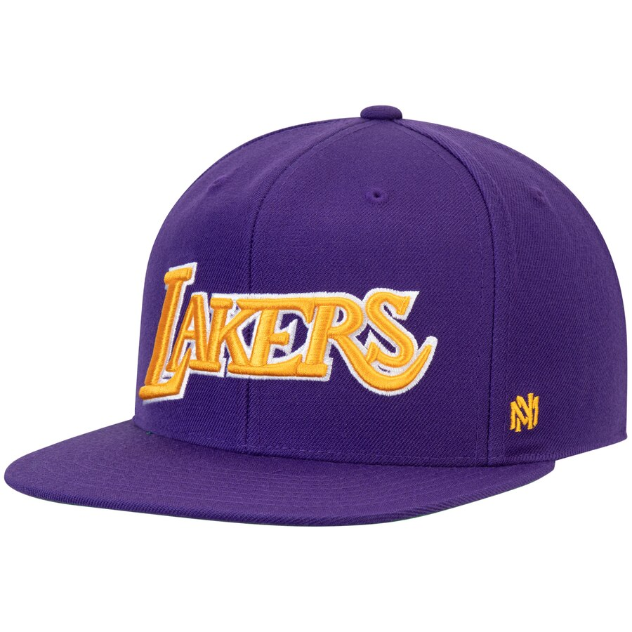 ロサンゼルス・レイカーズ Mitchell & Ness Hardwood Classics Fitted キャップ - Purple
